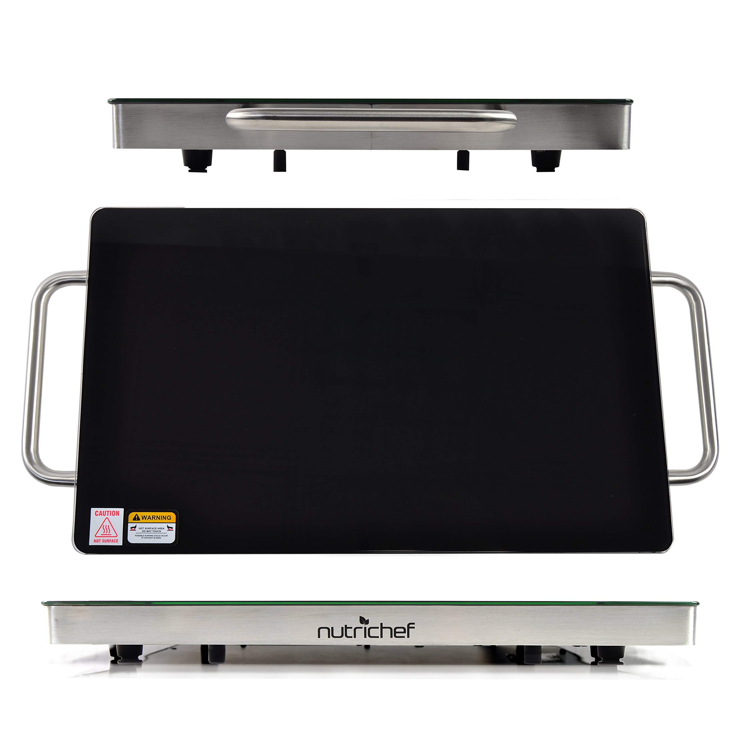 nutrichef electric warming tray food warmer hot plate. Black Bedroom Furniture Sets. Home Design Ideas