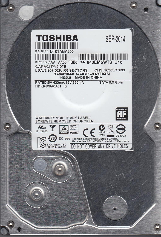HDKPJ09A0A01 S DT01ABA200 Toshiba 2TB SATA 3.5 Hard Drive AA00//BB0