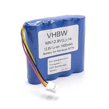 vhbw Li-Ion / LiFePo4 batería 1400mAh (12.8V) para robot limpiasuelos robot