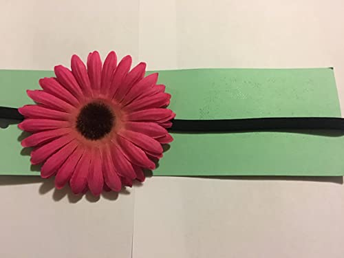 Amazon Com Pink With Brown Center Daisy Flower Headband Handmade The latest version daisy brown 2 tones color contacts, light color match bring you fresh spring. pink with brown center daisy flower