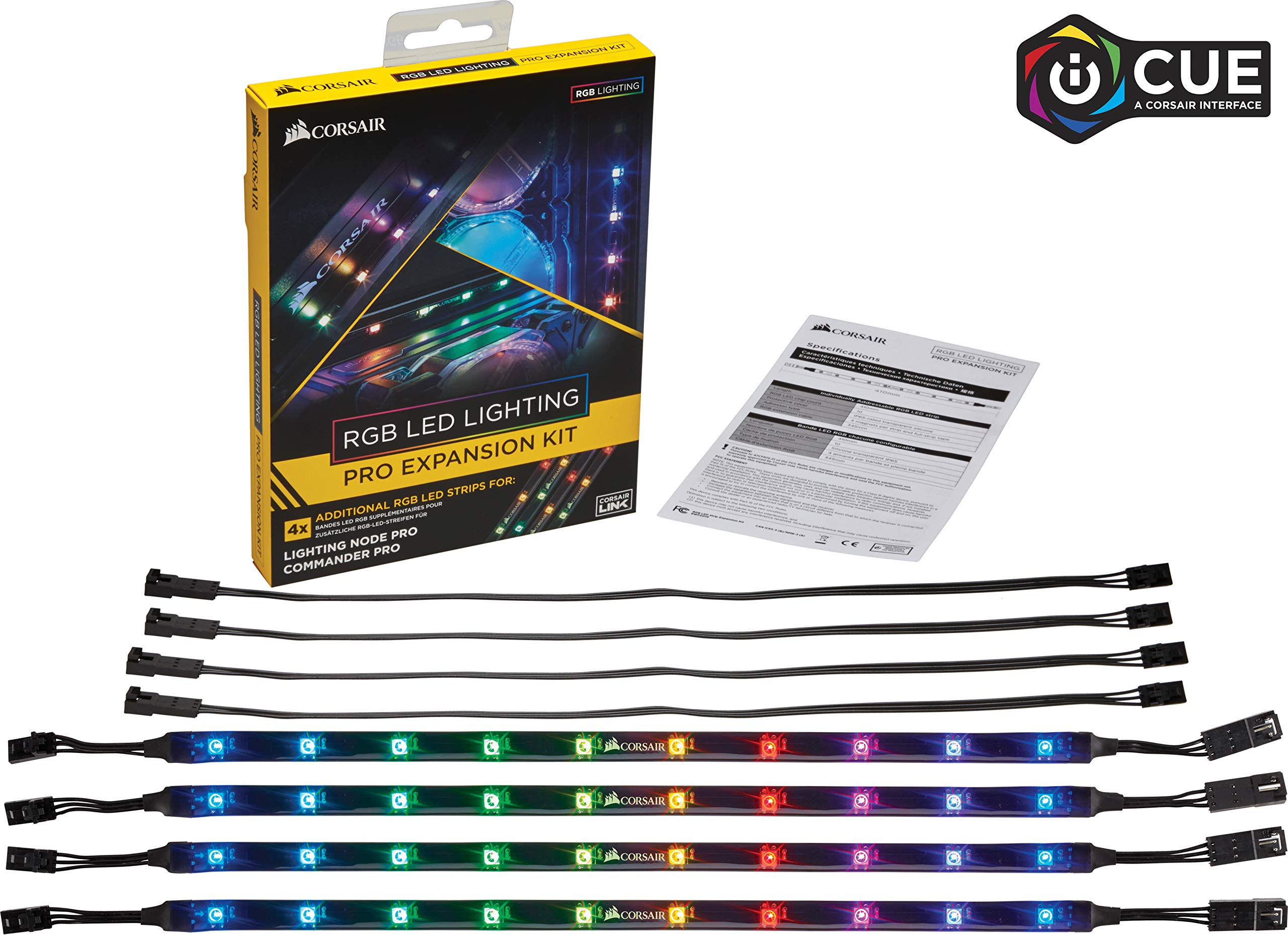 CORSAIR CL-8930002 RGB LED Lighting PRO Expansion Kit