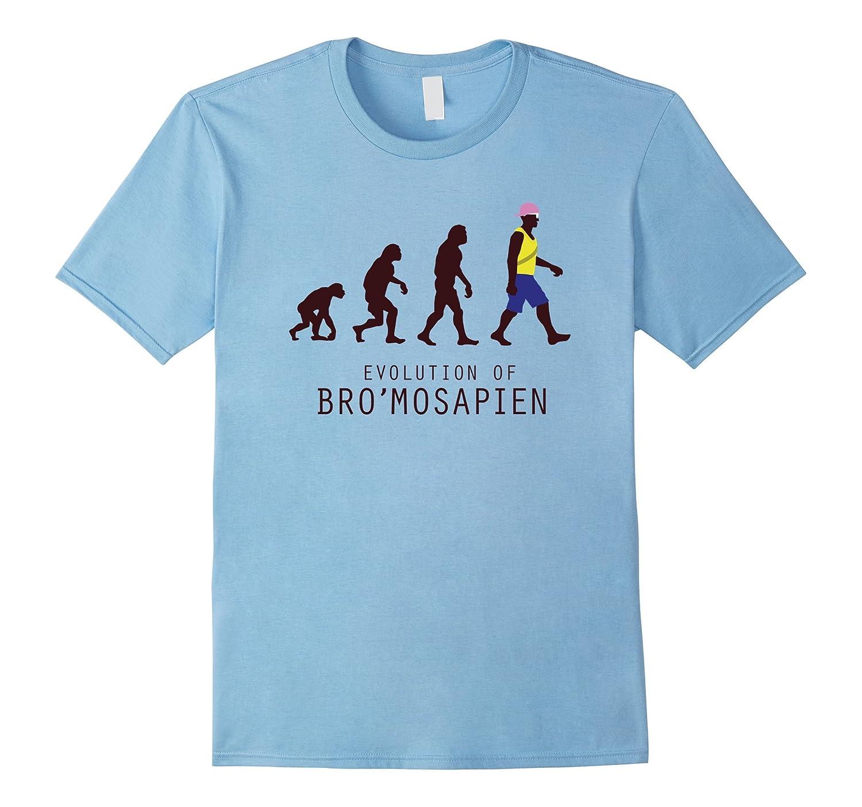 Evolution of Man Mankind Homosapien Bro Funny T-Shirt-Vaci