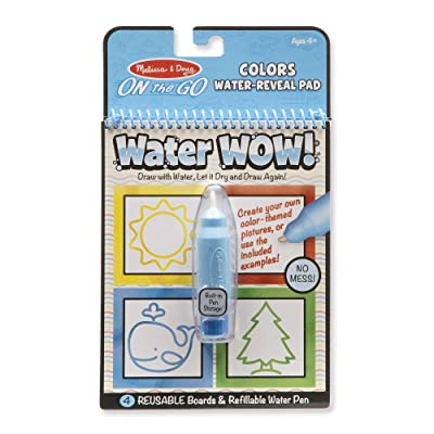 Melissa & Doug On the Go Water Wow! Reusable Water-Reveal Activity Pad - Colors, Shapes: Toys & Games