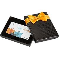 Amazon.com Gift Card in a Black Gift Box (Happy Birthday Card Design)