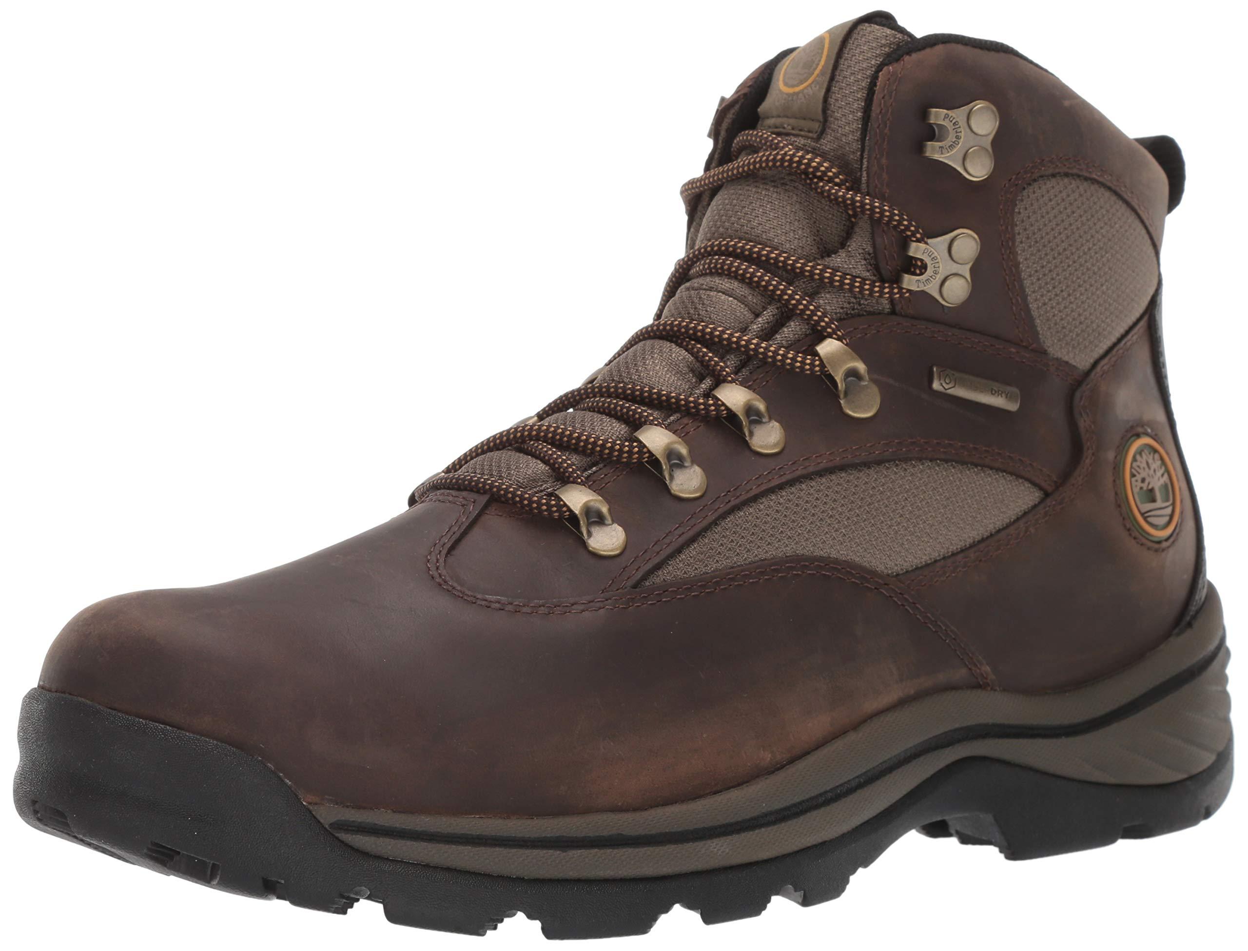 Timberland Men's Chocorua Trail Mid Waterproof, Brown/Green, 11 D-Medium