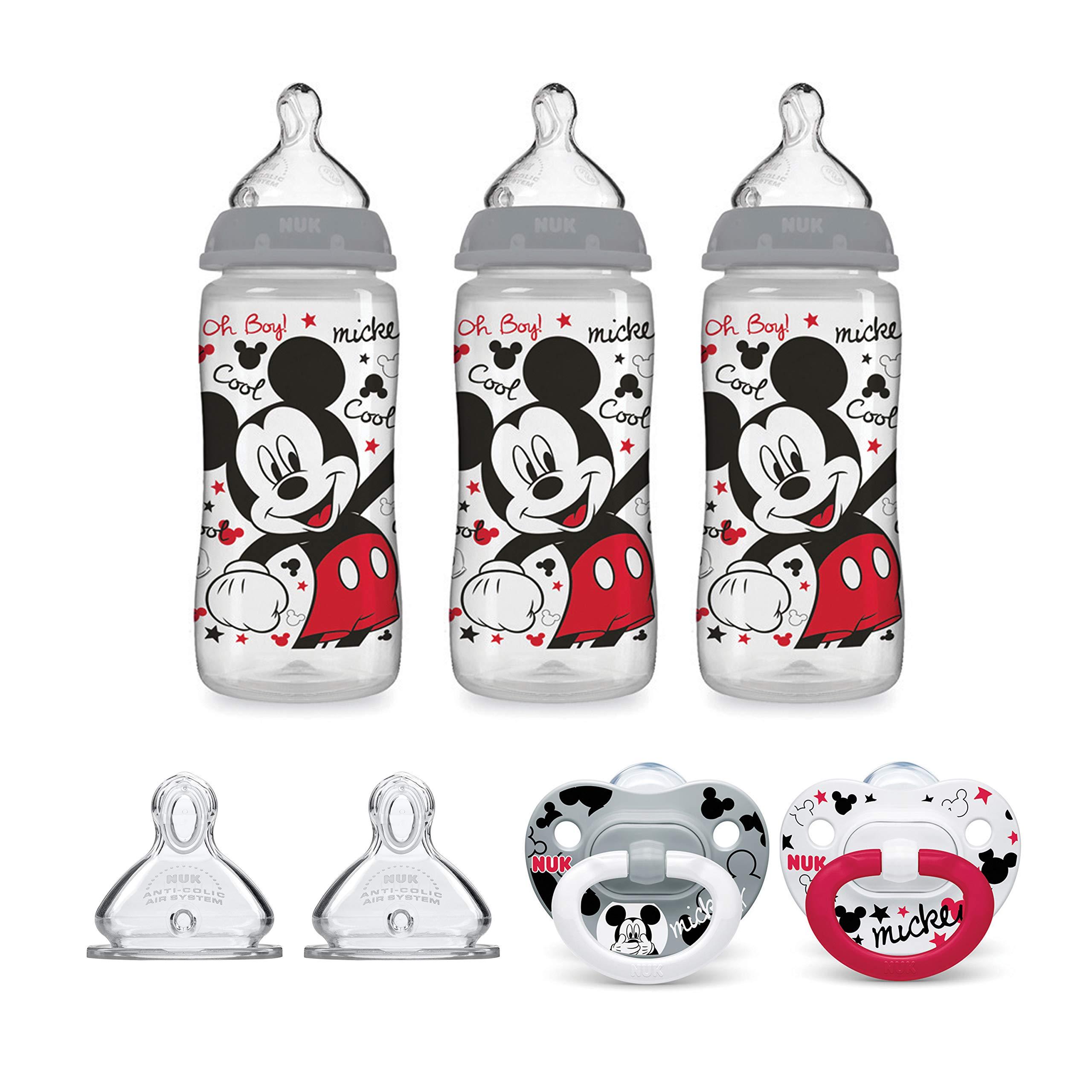 NUK Disney Baby Bottle & Pacifier Newborn Set, Mickey Mouse by NUK