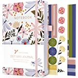 Bullet Dotted Journal – 160gsm Bleed Proof Thick White Paper – 200 Numbered Dot Grid Pages – 5.8 x 8.3 inch Dotted Notebook…