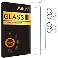 Ailun 2Pack Screen Protector Compatible for iPhone 12 Pro[6.1 inch] + 2 Pack Camera Lens Protector,Tempered Glass Film…