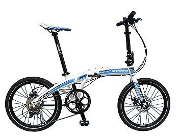 Mosso 20-F1 - Bicicleta plegable, color blanco y azul