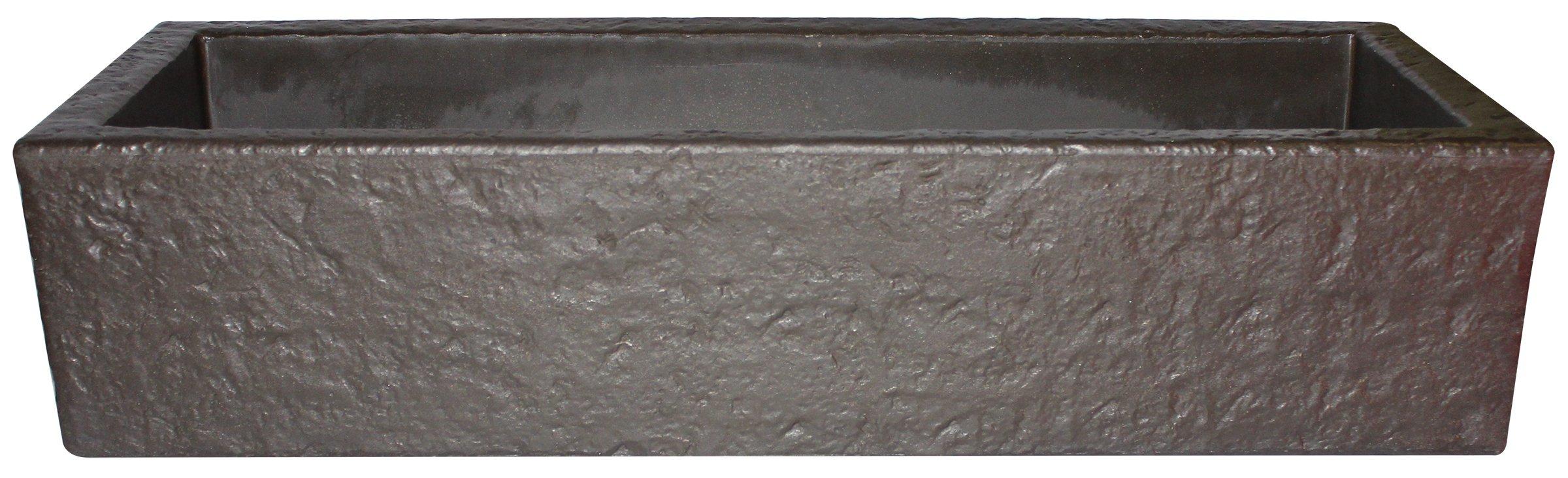 Emsco Group 92415 38'' Weatherproof Resin Trough Window Planter, Bronze by Emsco Group