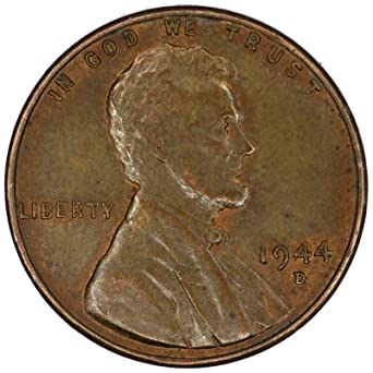 1944 D Lincoln Wheat Penny Good at Amazon's Collectible Coins Store