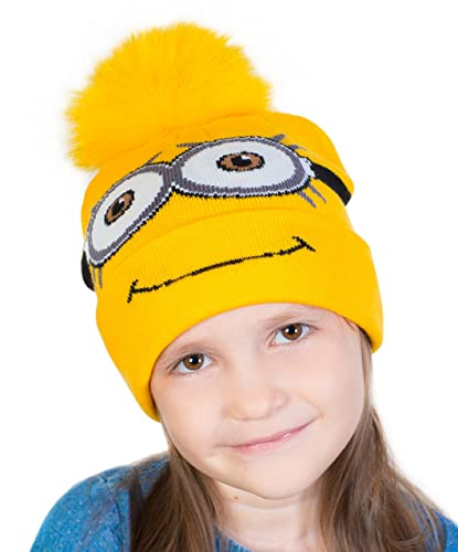 Amazon.com  Warm Minion Hat For Baby Boys and Girls From 2 To 10 ... 3897a73143d