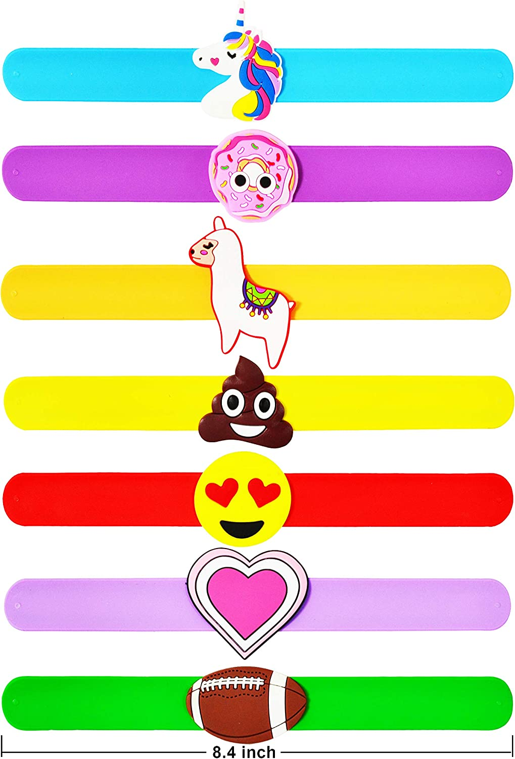 28 pcs Slap on Bracelets and Cards with 7 designs for Kids Party Favor Valentine/'s Greeting Cards for Kids School Valentines Day Cards Classroom Exchange Prizes