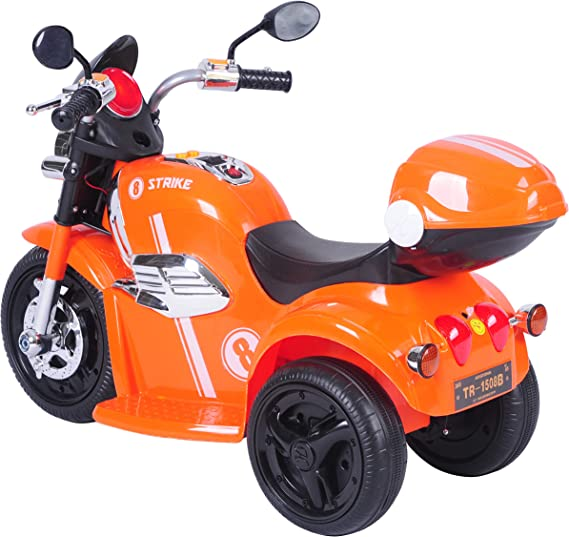 Toyhouse Samurai Strike 8 Rechargeable Battery Operated Ride on Bike for Kids(2 to 4yrs) Orange