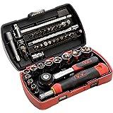 """SAM Outillage 73-R39Z Innovation Pocket Light Coffret de douilles/accessoires 1/4"""" 39 Outils de 5 à 14 mm"""