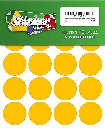 192 Klebepunkte aus PVC Folie Markierungspunkte Kreise Punkte Aufkleber 25 mm wetterfest wei/ß