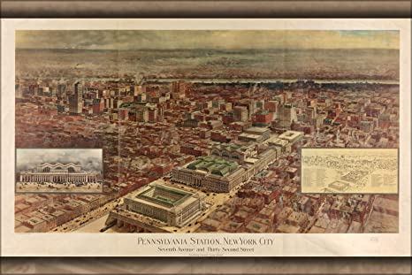 Penn Station Nyc Map Inside.Amazon Com 20x30 Poster Map Of Penn Station New York City 1910