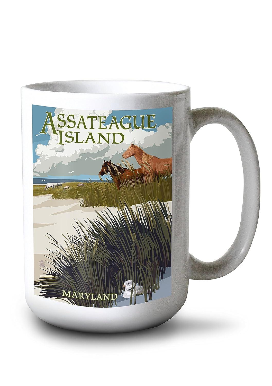 新しいコレクション Assateague島、メリーランド州 – Horses and Mug Dunes 15oz 12 Mug x 18 Metal Sign LANT-43987-12x18M B077RRWDC1 15oz Mug 15oz Mug, 卵とプリンの専門店花兄園:5940ee1b --- 4x4.lt