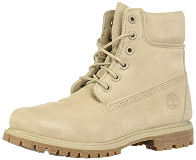 """674d48c4a0f18 Timberland Womens 6"""" Premium Boot Simply Taupe Suede 7 B - Medium"""