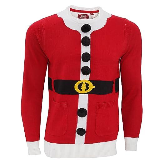 05187e8797c3 Brave Soul Unisex Buddy Santa Christmas Jumper (Medium) (Santa) at ...