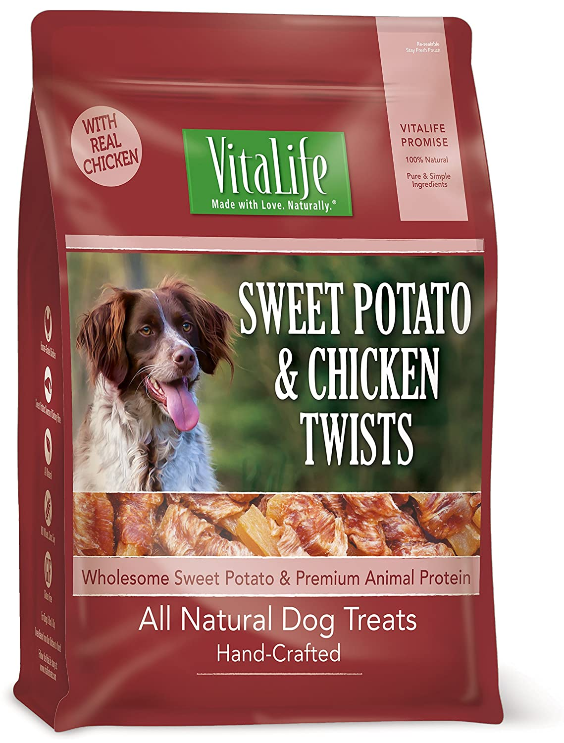 VitaLife Wraps Dog Treat - Natural, Grain Free, Sweet Potato & Chicken, 908 g Normerica AKR-VITA-6X908G-CKNSWPOT-PUR