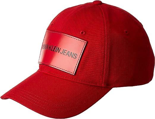 Calvin Klein J Institutional Cap M Gorra de béisbol, Rojo ...