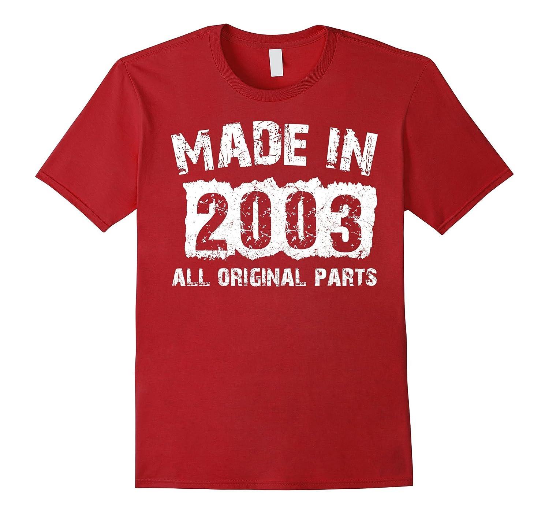 14th Birthday 14 Years Old 2003 T-Shirt-Vaci