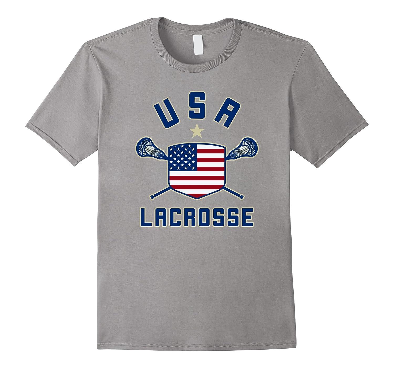 America Lax Tee I USA Lacrosse Shirt-TD