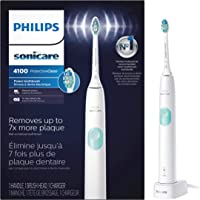 Philips Sonicare ProtectiveClean 4100 Plaque Control Rechargeable Electric Toothbrush with Pressure Sensor (White)