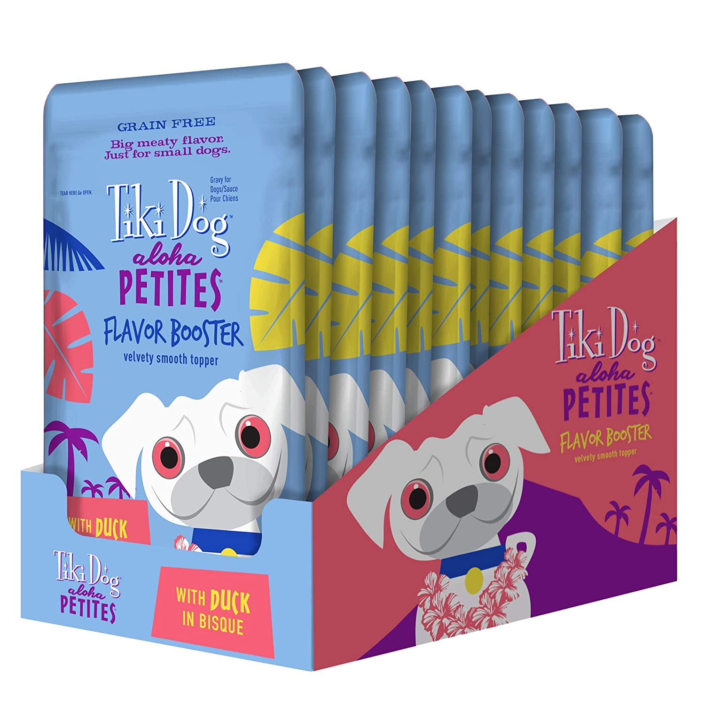 1.5oz. (12-Pack) Tiki Dog Aloha Petites Flavor Booster Bisque 1.5 oz. 12BX Duck