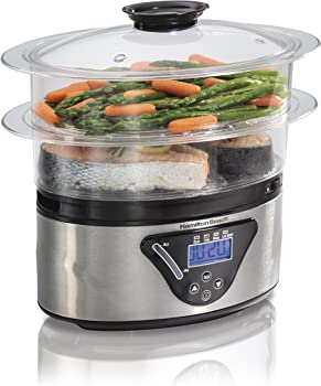Hamilton Beach 5-1/2-Quart Digital Steamer (Silver/Black)
