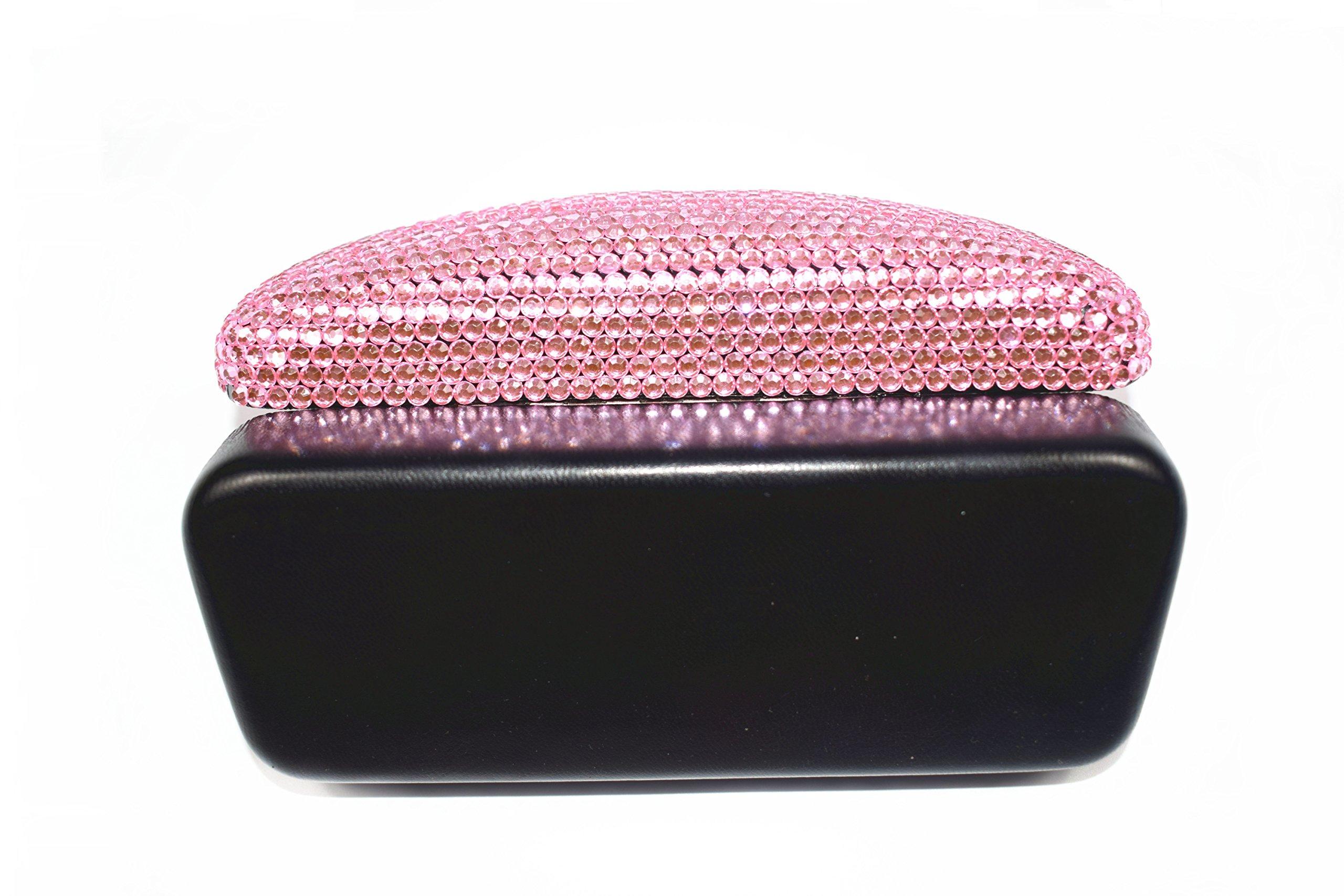 Fashion Pink Bling Crystal Travel Glasses Case Cute Rhinestone Gift Eyeglasses Box by Bling Dynasty (Image #6)