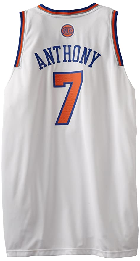 0fb2c56ae15c NBA adidas Carmelo Anthony New York Knicks Revolution 30 Swingman Home  Jersey - White (XXXX