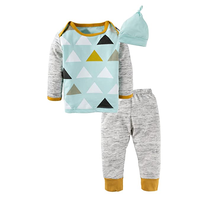 f72f103786de Amazon.com  BIG ELEPHANT Baby Boys  3 Pieces Cute Long Sleeve Tops ...