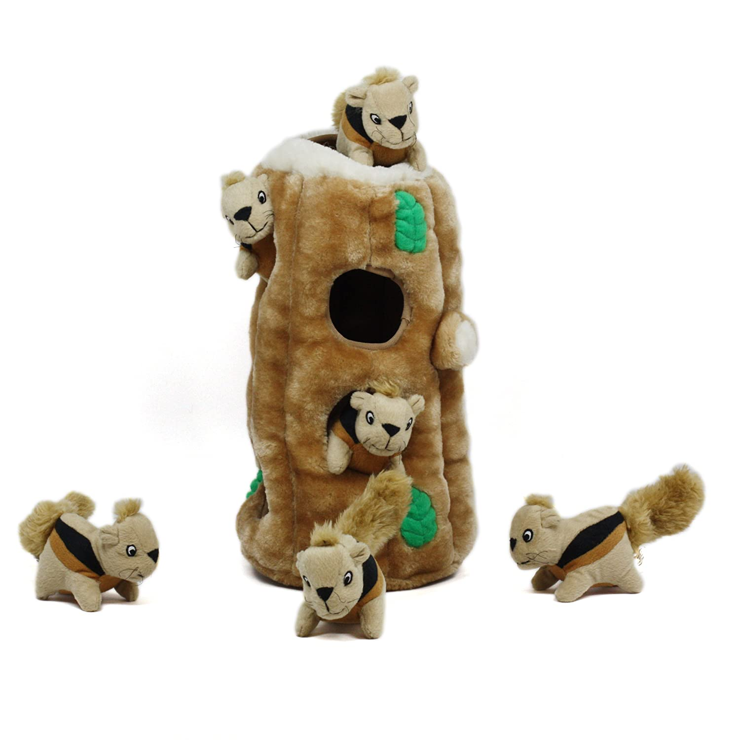 Pet Supplies Pet Squeak Toys Hide a Squirrel Fun Hide and Seek