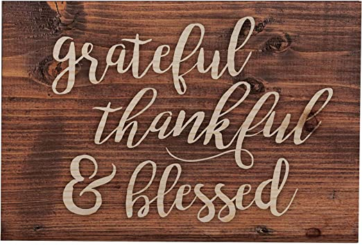 Amazon.com: P. Graham Dunn Grateful Thankful Blessed Script ...