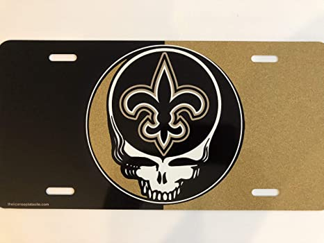 new product 45632 775ad The Sports Fan Store New Orleans Saints Steal Your Face Car Tag