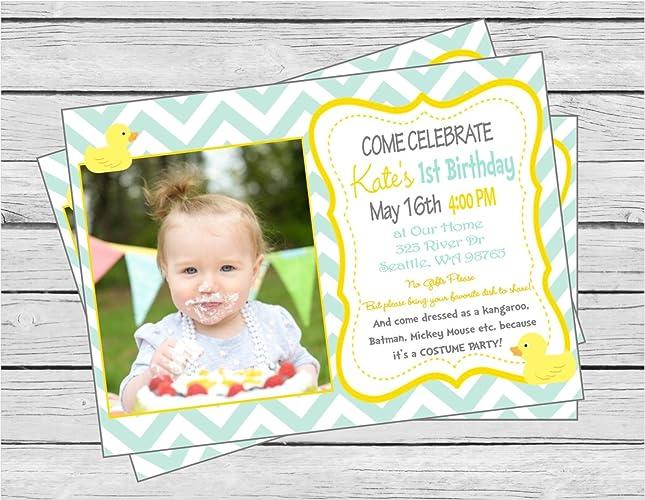 Amazon Rubber Ducky Happy Birthday Invitation