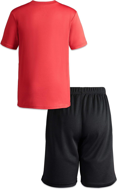 Disney Pixar Incredibles Boys Athletic T-Shirt /& Mesh Shorts Clothing Set Red