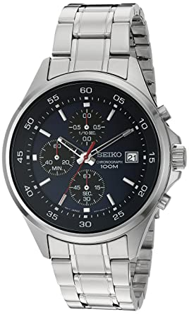 3aaf5ac05 Image Unavailable. Image not available for. Color: Seiko Men's Quartz Stainless  Steel Dress Watch, Color:Silver-Toned ...