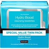 Neutrogena HydroBoost Facial Cleansing & Makeup Remover Wipes with Hyaluronic Acid, Hydrating Pre-Moistened Face Towelettes t