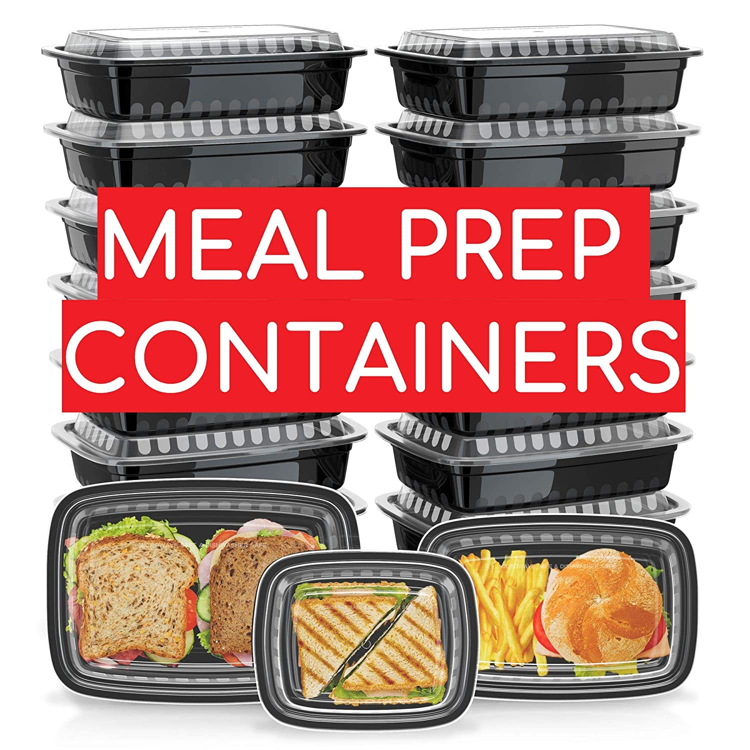 Green Label [21 Pack] Assorted Meal Prep Containers