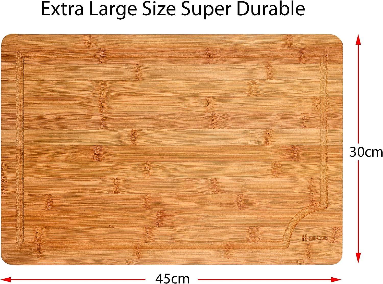 HARCAS Planche /à d/écouper en bambou Taille XL