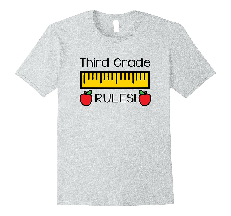 Third Grade Rules Shirt, Cute Back to School Teacher Gift