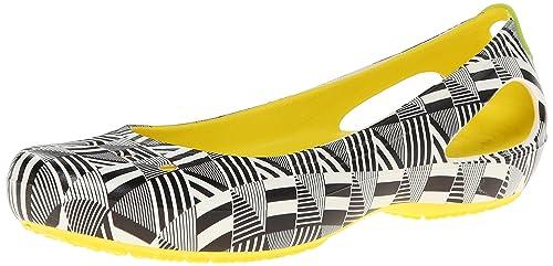 4ad4012dea93 Crocs da Mondo Kadee Flats. Elegante Design Ballerinr - in Insieme Lavoro  Mondo Guerra