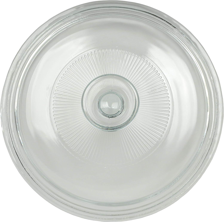 Corningware G-5C 1.5 Quart Fluted Round Glass Lid