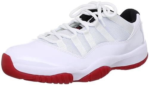 Nike Mens Air Jordan 11 Retro Low Cherry Synthetic Basketball Shoes