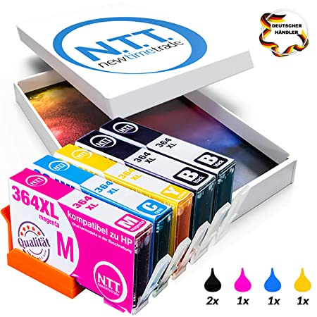 N.T.T. 5 XL HP364 XL HP 364XL Druckerpatronen kompatibel zu HP364 XL Multipack Photosmart 364XL