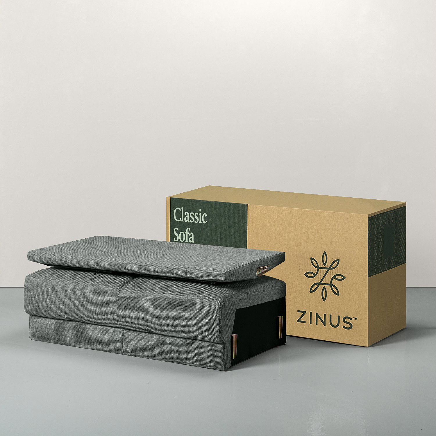 Zinus Classic Upholstered Sofa Couch/Loveseat