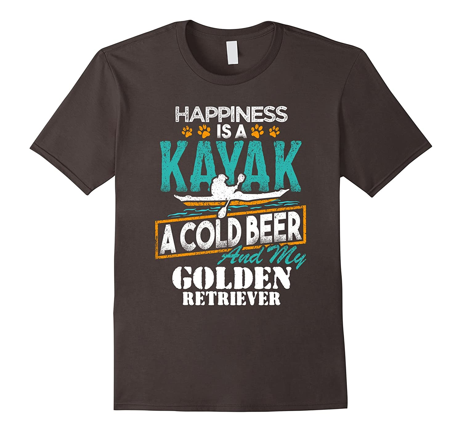 Happiness is a Kayak Cold Beer My Golden Retriever T-Shirt